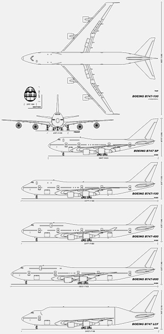 Diagrams of Boeing 747
