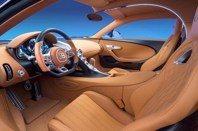 Bugatti Chiron interior