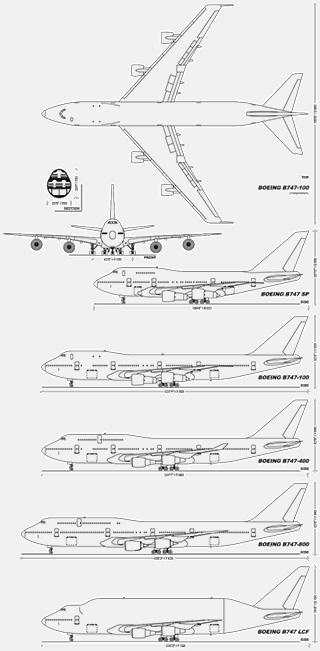 Diagrams of Boeing 747