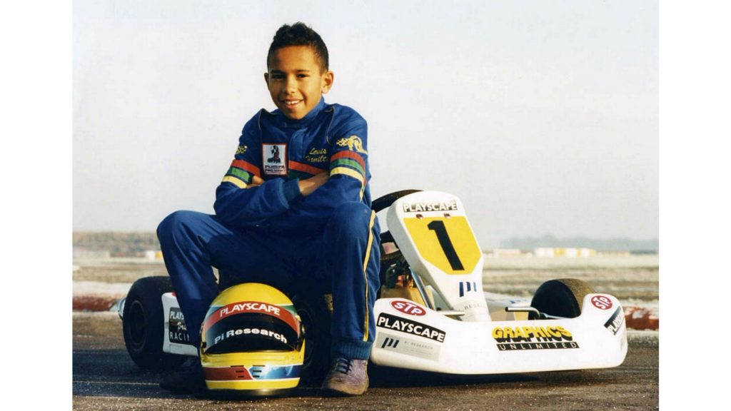 A Young Sir Lewis Hamilton